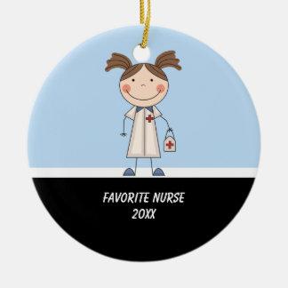 Adorable Girl Nurse Ornament
