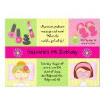 "Adorable Girl's Spa Party Birthday Invitation 5"" X 7"" Invitation Card"