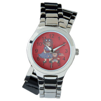 Adorable Girly Country Raggedy Doll Wristwatch