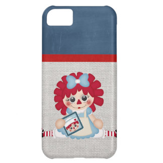 Adorable Girly Country Raggedy Rag Doll Cover For iPhone 5C