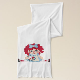 Adorable Girly Country Raggedy Rag Doll Scarf