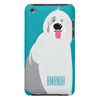 Adorable Girly Cute Old English Sheepdog Add Name iPod Touch Covers