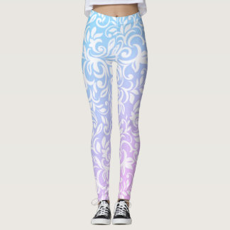 Adorable Girly   Damask Pattern Leggings