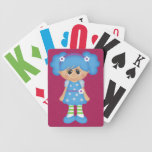 Adorable Girly Doll Bicycle Poker Cards