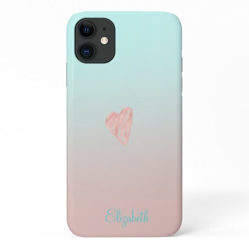 Adorable Girly, Heart iPhone 11 Case