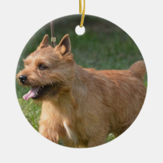 Adorable Glen of Imaal Terrier Double-Sided Ceramic Round Christmas Ornament