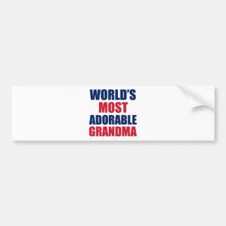 Adorable Grandma Bumper Sticker