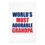 Adorable grandpa stationery paper