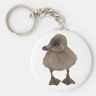Adorable Gray Duckling Close Up Photograph Keychain