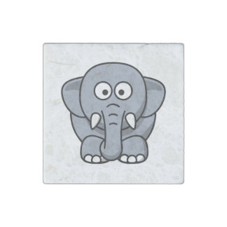 Adorable Gray Elephant Stone Magnet