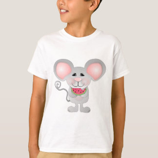adorable gray mouse holding watermelon T-Shirt