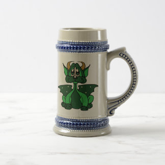 Adorable Green Little Baby Dragon Beer Stein
