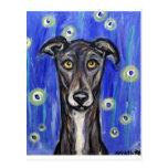 Adorable Greyhound portrait Postcard