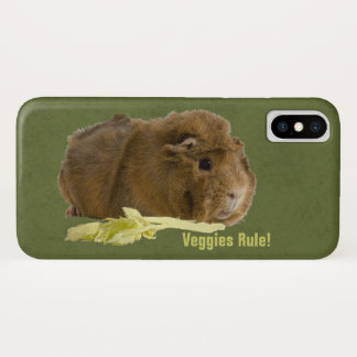 Adorable Guinea Pig Eating Celery Photography iPhone X Case