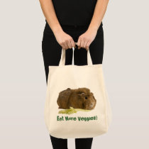 Adorable Guinea Pig Eating Celery Photography Tote Bag