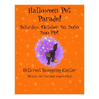 Adorable Halloween Black Cat Ghosts Pumpkins Stars Flyer