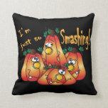 Adorable Halloween Smashing Pumpkins Pillow