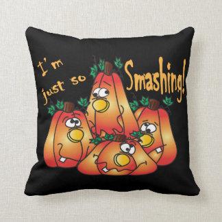 Adorable Halloween Smashing Pumpkins Throw Pillow