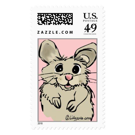 Adorable Hamster Fuzzy Custom Postage Stamp