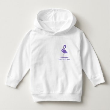 Beach Themed Adorable Hand-Painted Purple Flamingos with Flair Hoodie