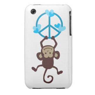 Adorable Hanging Peace Monkey Phone Case, Gifts iPhone 3 Cover