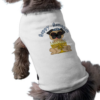 Adorable Hanukkah Pug Tees