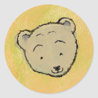 Adorable happy bear art unique fun - My Bears & Me Classic Round Sticker