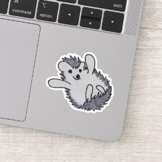 Adorable Happy Hedgehog Sticker