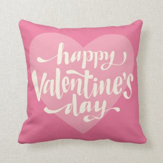Adorable Happy Valentine's Day | Throw Pillow