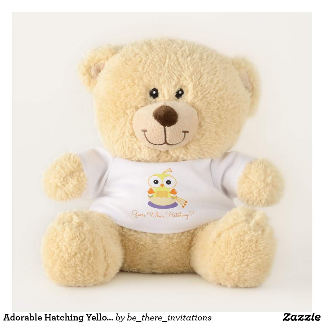 Adorable Hatching Yellow Bird Gender Reveal Teddy Bear