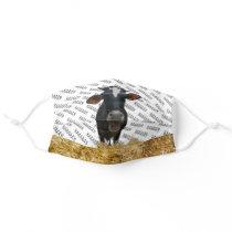 Adorable Hay Cow Hello Barn Animal Cloth Face Mask
