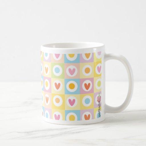 Adorable Hearts Polka Dots Mug