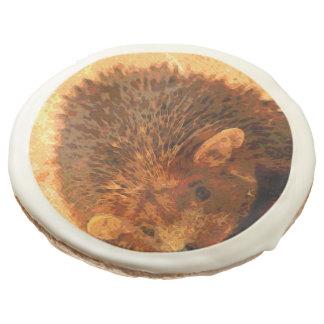 adorable hedgehog sugar cookie