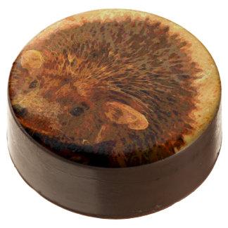 adorable hedgehog chocolate dipped oreo