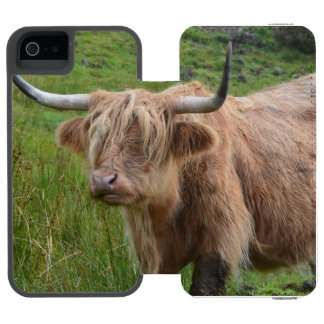 Adorable Highland Cow Wallet Case For iPhone SE/5/5s
