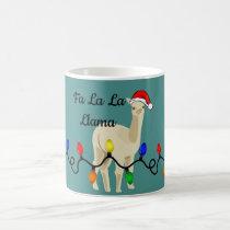 Adorable Holiday Fa La La Llama Coffee Mug
