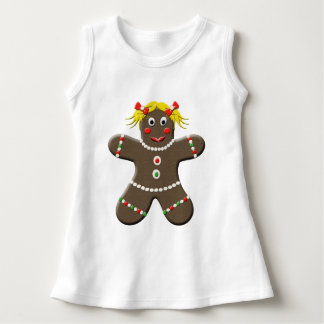 Adorable Holiday Gingerbread Girl Dress