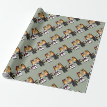 Adorable Horse Bride and Groom Wedding Wrapping Paper