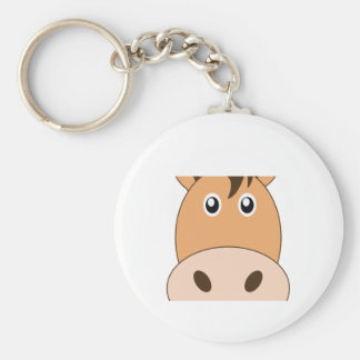Adorable Horse Little Zoo Basic Round Button Keychain