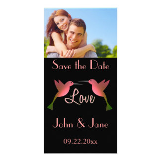 "Adorable Humming Birds /photo  ""Save the Date"" Card"