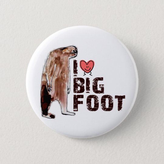 Adorable! I LOVE <3 BIGFOOT design Finding Bigfoot Button