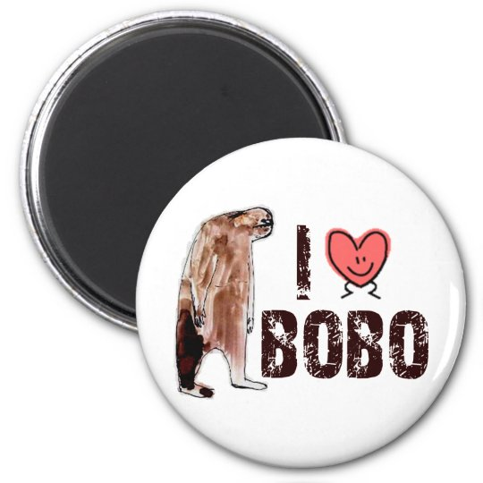 Adorable!  I LOVE <3 BOBO design - Finding Bigfoot Magnet