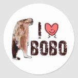 Adorable!  I LOVE <3 BOBO design - Finding Bigfoot Round Sticker
