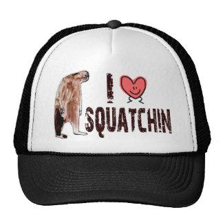 Adorable!  I LOVE <3 SQUATCHIN - Finding Bigfoot Trucker Hat