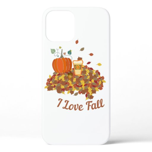 Adorable I Love Fall  iPhone 12 Case