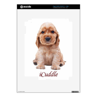 Adorable iCuddle Cocker Spaniel Decals For The iPad 2