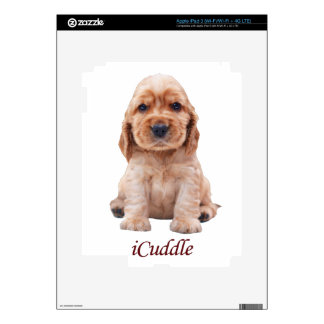 Adorable iCuddle Cocker Spaniel iPad 3 Decals