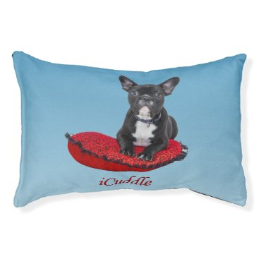 Valentines Themed Adorable iCuddle French Bulldog Pet Bed