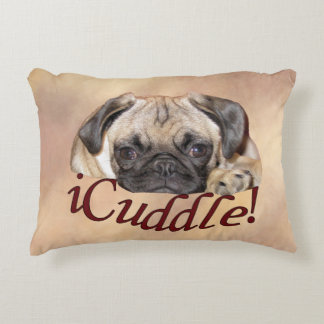 Adorable iCuddle Pug Puppy Accent Pillow