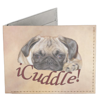 Adorable iCuddle Pug Puppy Billfold Wallet